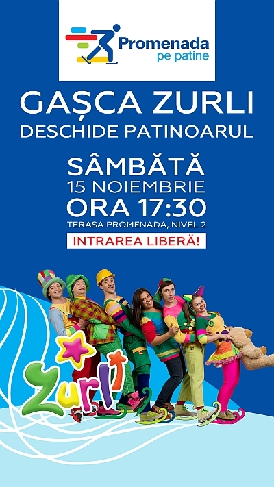 Inauguram patinoarul Promenada _Zurli_pe patine_14.11.2014